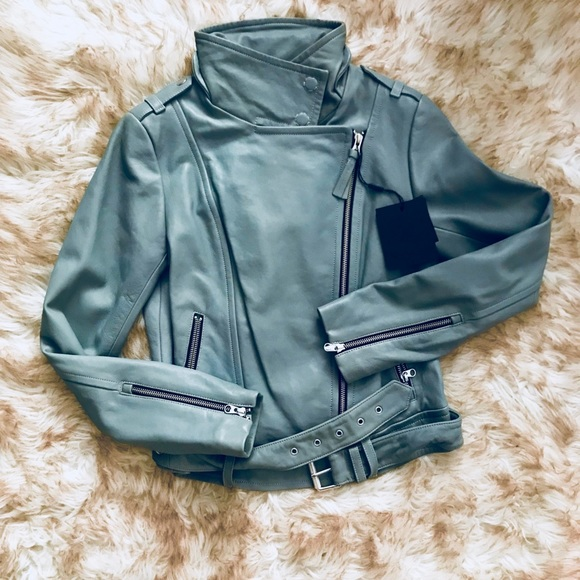 "💥🎈Mackage ""Teal ""Moto Lamb Lather Jacket 💥   Nwt by Mackage"